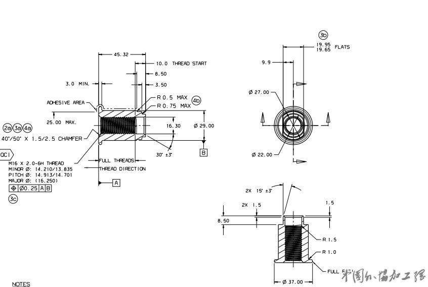 加工方式: 加工工艺:冷成型 汽车螺母:碳钢8.8级 图号3738-1 表面处理:原表面 数量:14000000件/年 必须要有螺纹光检机100%全检螺纹,零PPM值。 供应商必须有TS16949证书,须有与国外一级汽车零部件企业的长期供应经验。 另外还有两个螺母,年需求量400000件。