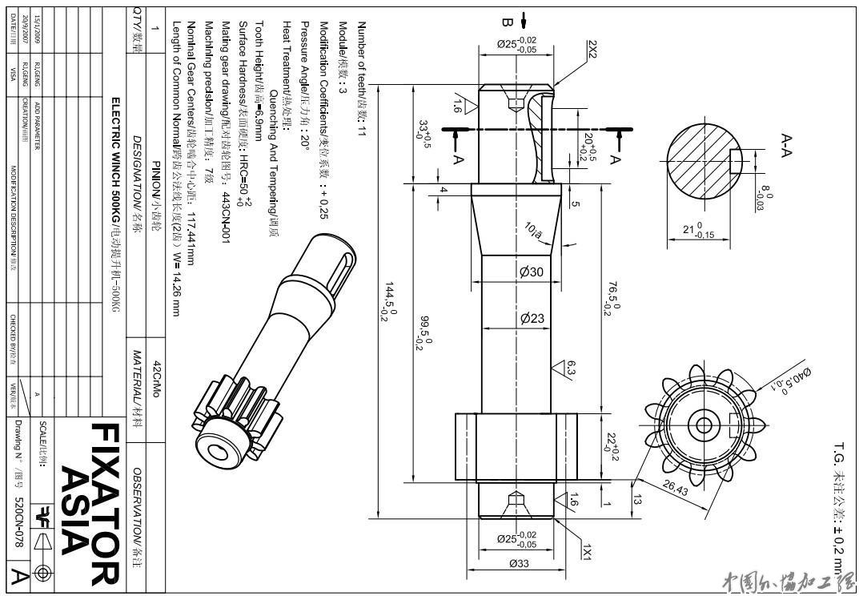 电路图中齿轮的符号