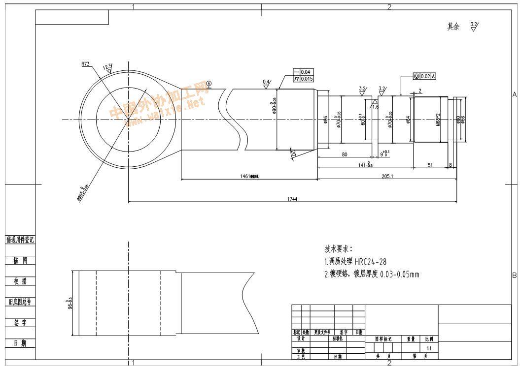 液压缸活塞杆加工--中国外协加工网 中国外协网图片