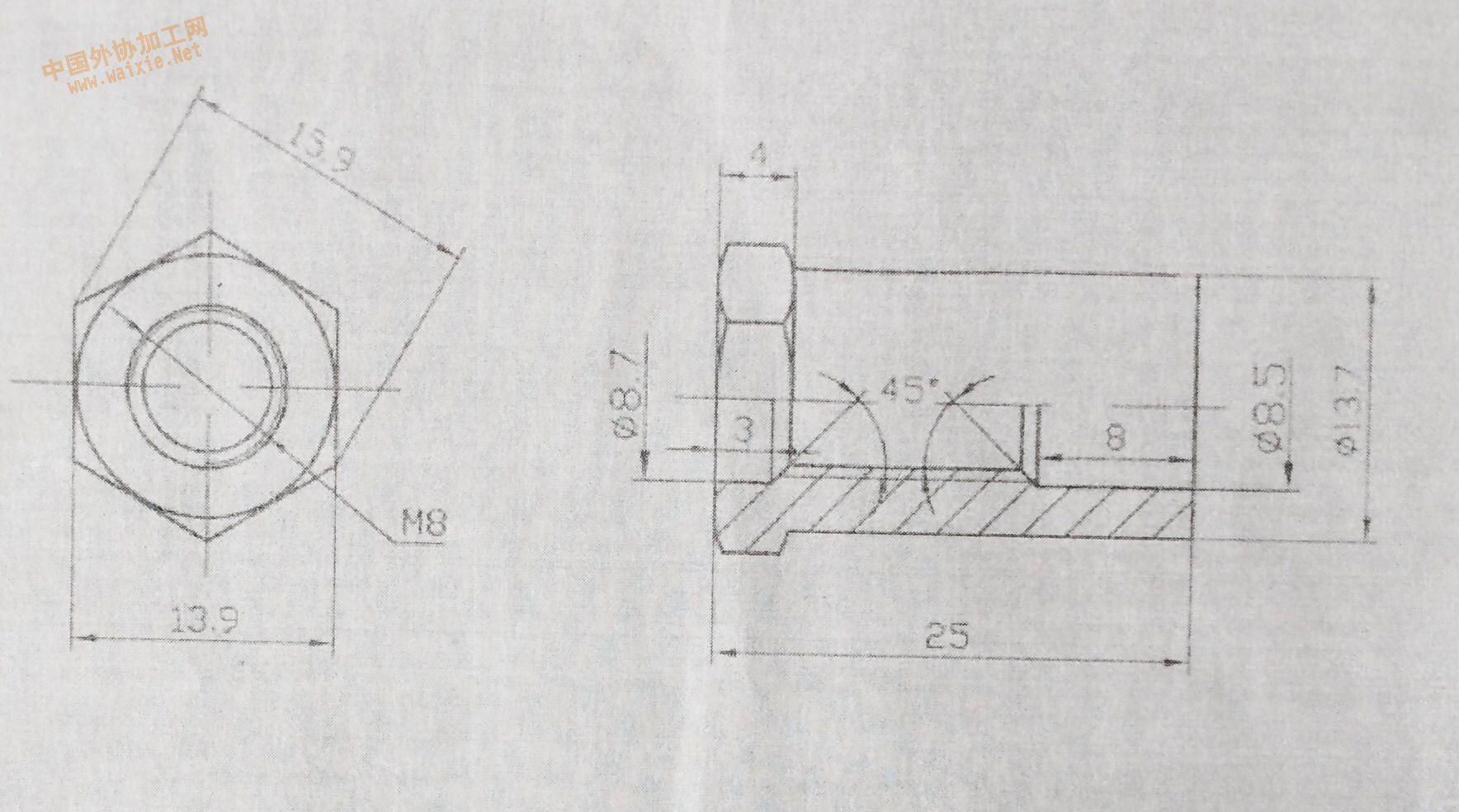 汽车发电机接线螺丝螺母寻加工