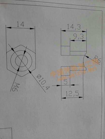 电动车刹车线螺母加工