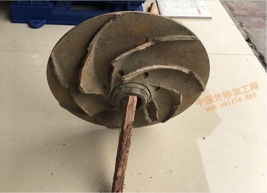 水泵叶轮加工图片